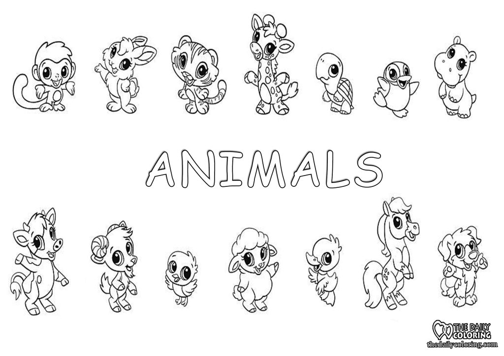 cute-animals-coloring-page