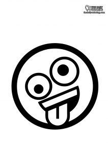 nerd-face-emoji-coloring page