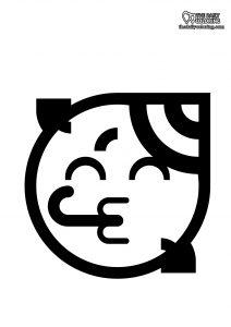 party-emoji-coloring-page