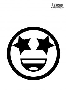 star-eyes-emoji-coloring-page