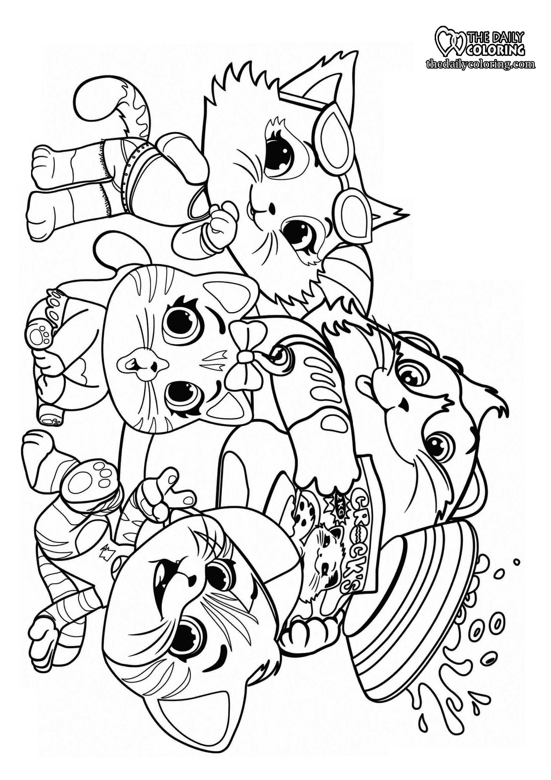 cat-family-coloring-page