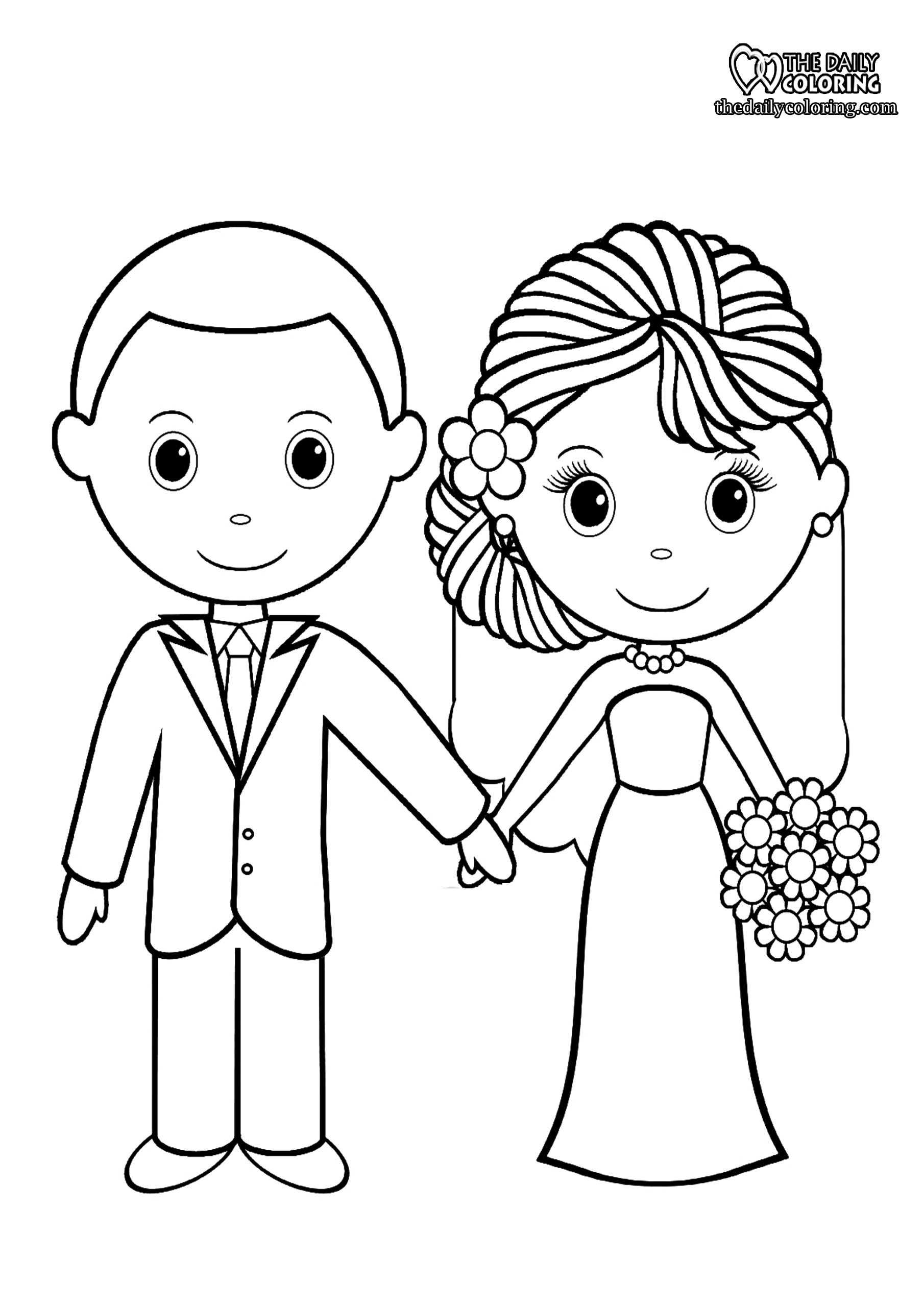 bride-and-groom-coloring-page