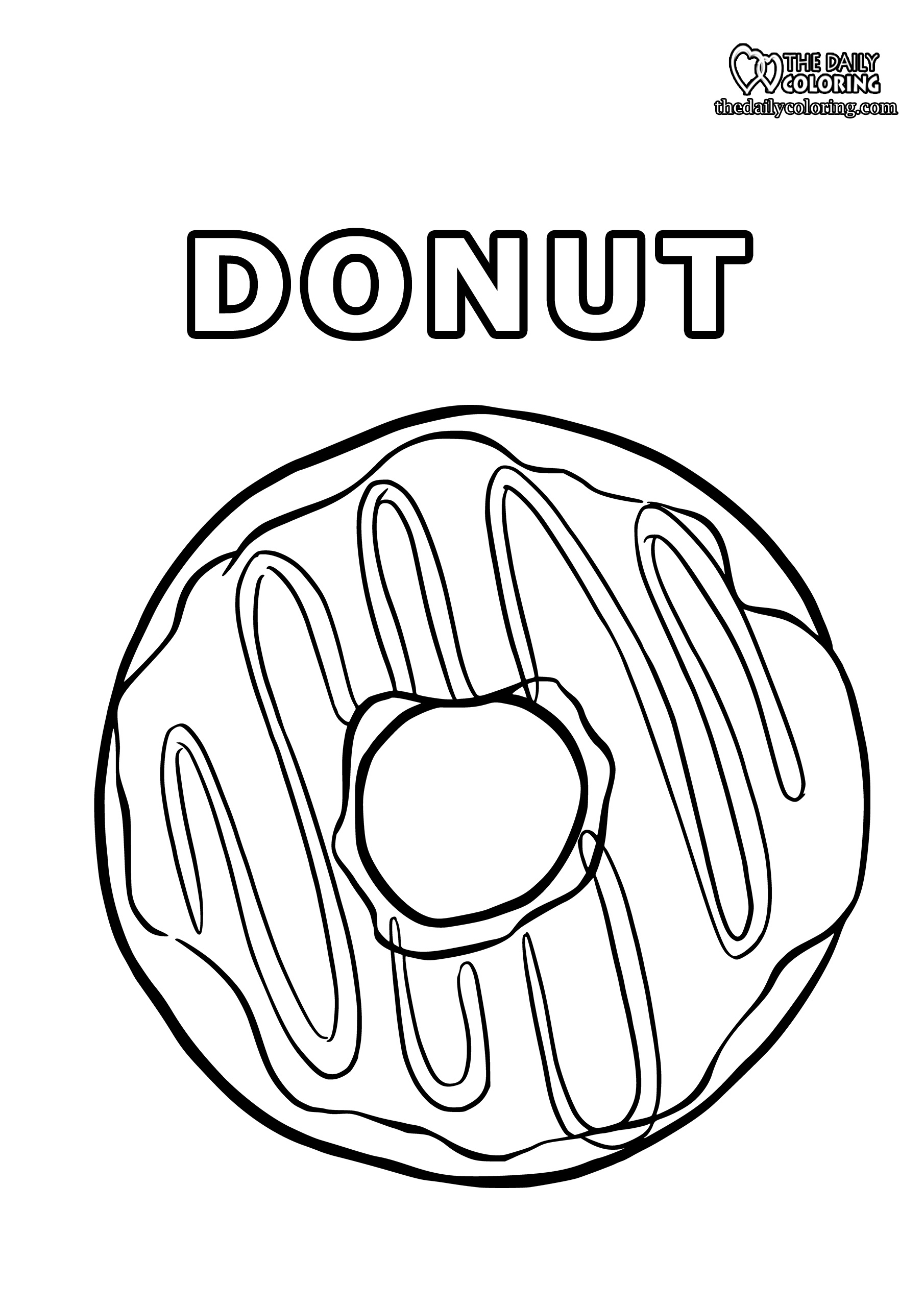 donut-coloring-page