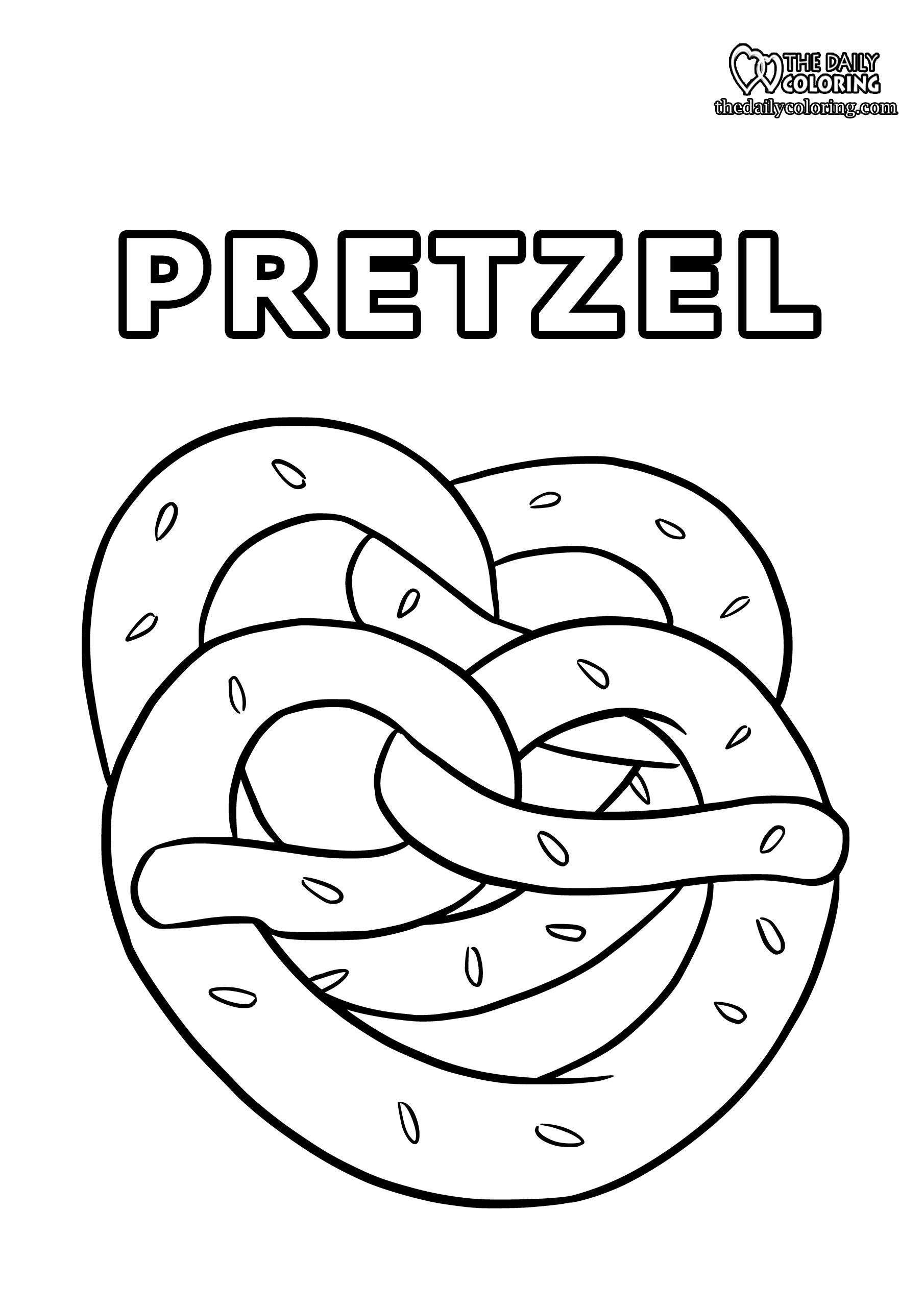 pretzel-coloring-page