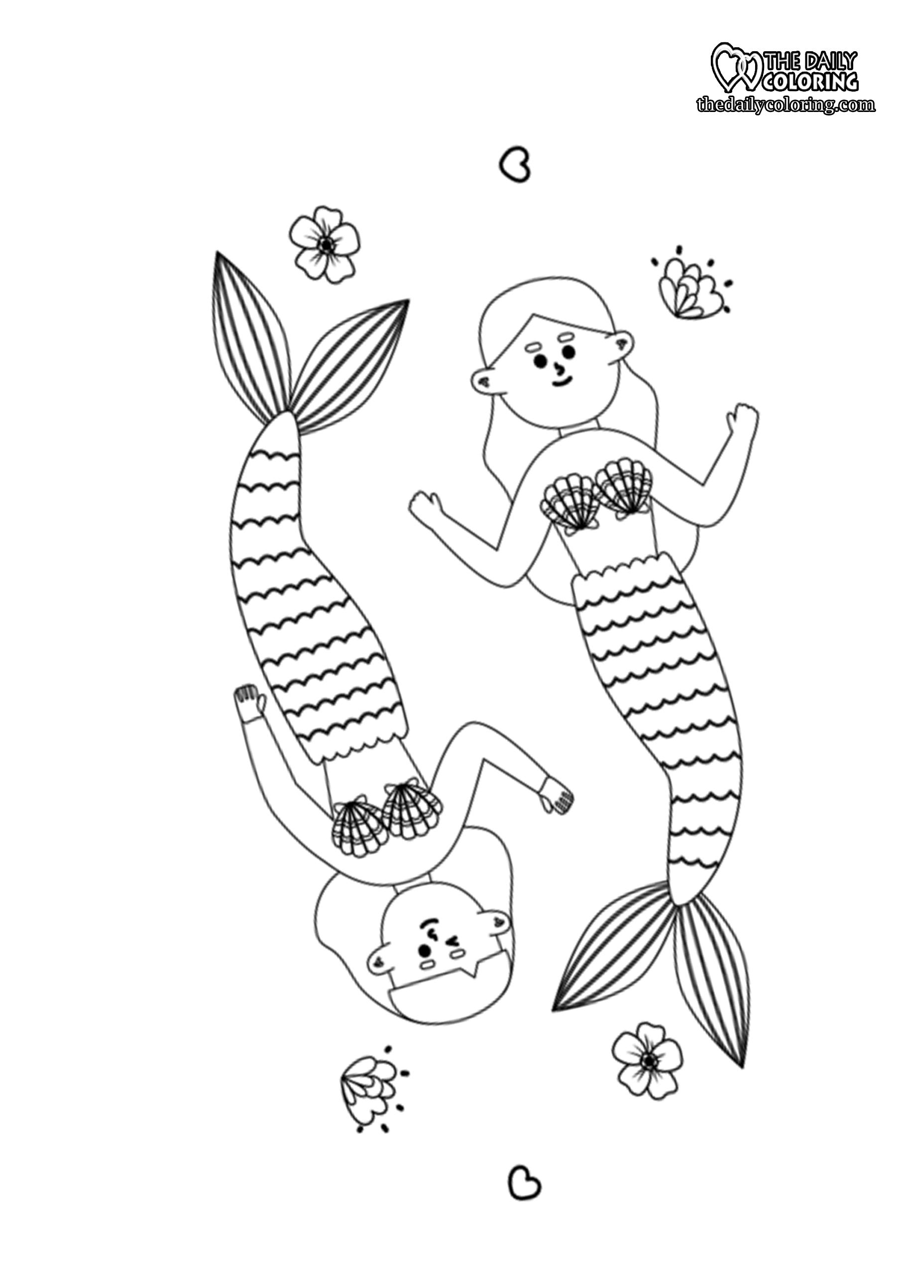 mermaid-coloring-page