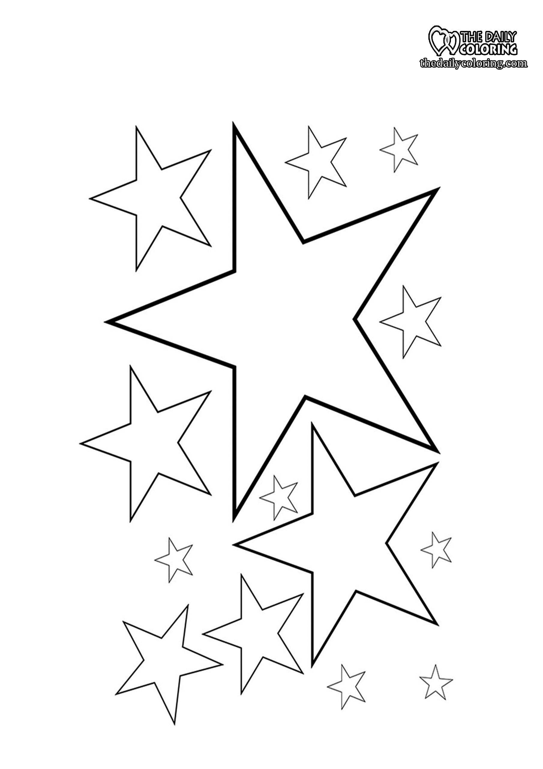 stars-coloring-page
